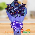 send designer cadbury dairy milk chocolate bouquet delivery