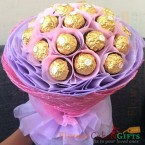 send 16 pcs ferrero chocolate bouquet delivery