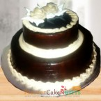 send 2 tier chocolate cake 3 kg delivery