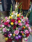send 50 roses and carnations bouquet  delivery