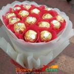 send elegant ferrero chocolate bouquet delivery
