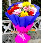 send 10 mix garbera bouquet delivery