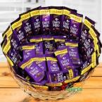 send 35 dairy milk chocolates basket delivery