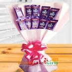 send 10 cadbury dairy milk chocolate bouquet delivery