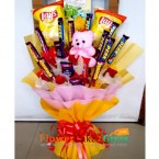 send lays chip teddy roses chocolate bouquet delivery