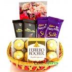 send ferrero rocher and silk basket delivery