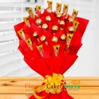 send ferrero rochers and five star chocolate bouquet delivery