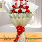 send Kitkat Chocolate Bouquet delivery