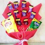 send chocolate kurkure lays bouquet delivery