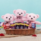 send Teddy and Chocolate Basket delivery