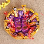 send Chocolate With Basket Arangement delivery