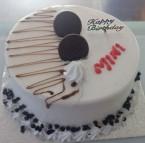send 1kg oreo vanilla fresh cream round shape cake delivery