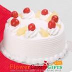 send Half Kg Pineapple Cake delivery