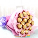 send 16 ferrero rocher chocolate bouquet delivery