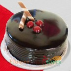 send 1 kg eggless chocolate truffle cake delivery