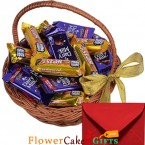 send 16 five star n cadbury dairy milk chocolate basket delivery