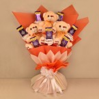 send cute teddy chocolate bouquet delivery