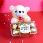 send teddy with ferrero rocher chocolate delivery
