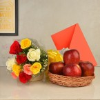 send roses flower n greeting card delivery
