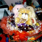 send 20 dairy milk chocolate and 3 teddy bear basket delivery