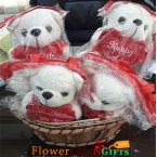 send 4 teddy bear basket delivery