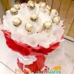 send luxury 16 ferrero rocher chocolate bouquet delivery
