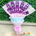 send designer cadbury dairy milk chocolate bouquet delivery