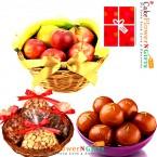 send 1kg mixed dry druits 3kg Fresh Fruits 1 kg gulab jamun delivery