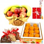 send half kg mixed dry druits 2kg Fresh Fruits half kg ladoo delivery