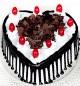 Half Kg Heart Shaped Blackforest Cake
