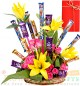 Lilies Roses Cadbury Dairy Milk 5 Star Perk Chocolates Bouquet