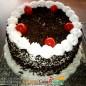 half kg black forest cake round Shape