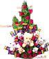 Teddy Roses Flower n Chocolate Bouquet