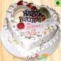 1kg Eggless Fruit Heart Cake