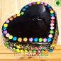 Half Kg Eggless Cadbury Games Chocolate Truffle Cake Heart Shape