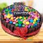 1 Kg KitKat Gems Chocolate Cake
