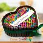 1kg Heart Shape KitKat Gems Chocolate Cake