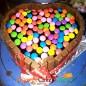 500gms Heart Shape KitKat Gems Chocolate Cake