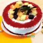 half kg red velvet fruit cake