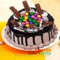 1 kg eggless kit kat gems chocolate cake