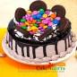 half kg gems oreo chocolate cake