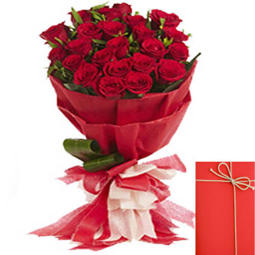 Designer Bouquet of 20 Red Roses