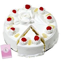 2Kg eggless pineapple Cake