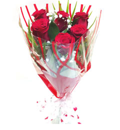 6pcs Red Roses Bunch
