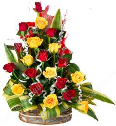 Designer Red n Yellow Flower Bouquet