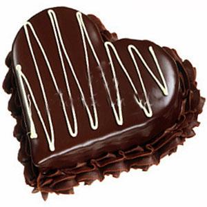 heart shaped chocolate truffle Cake
