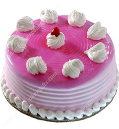500gms Strawberry Cake