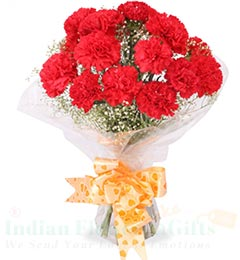 10 Carnations Flower bouquet