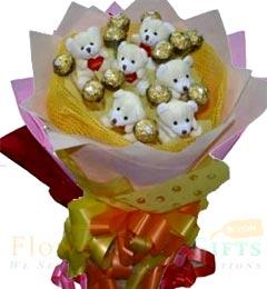 Teddy n ferrero rocher bouquet