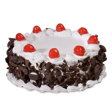 Yummy Black Forest Eggless Cake 500gms
